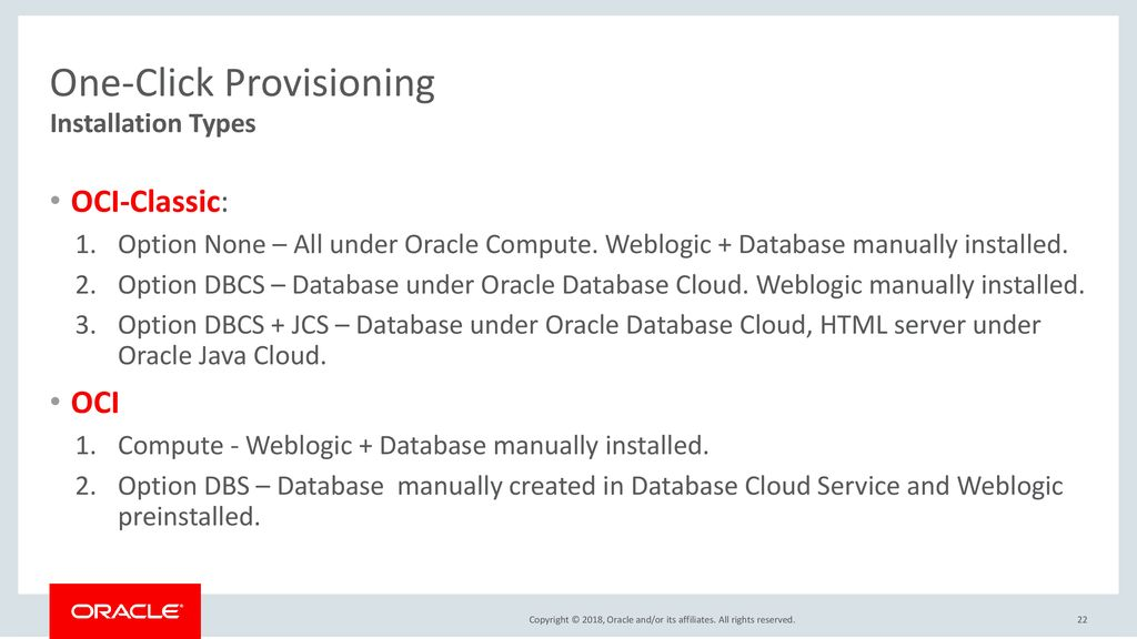 JD Edwards Support and Oracle Cloud Infrastructure: A