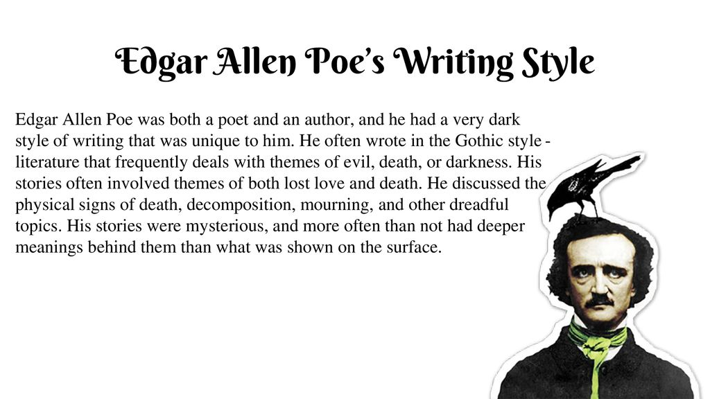 Someone to write an essay on edgar allan poe