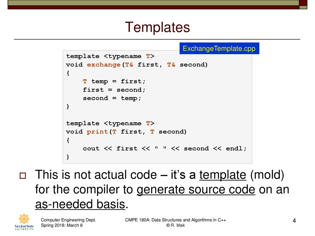 Cmpe 180a Data Structures And Algorithms In C March 8 Class