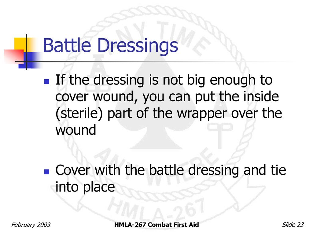 Combat First Aid for Marines - ppt download