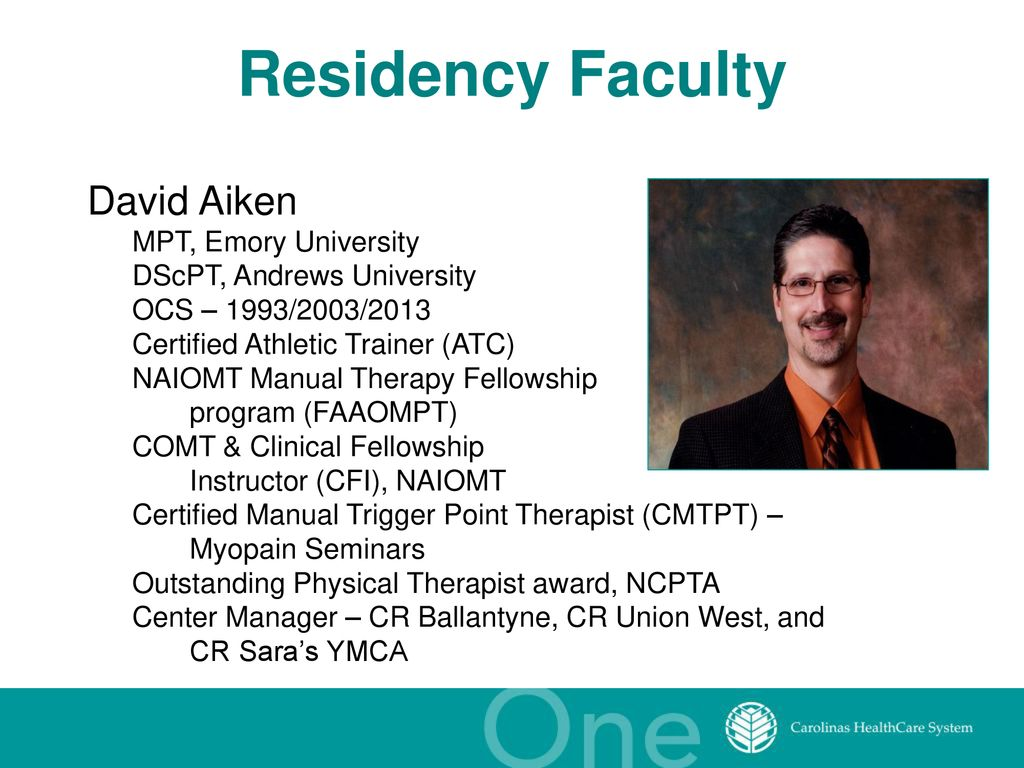 Orthopaedic Physical Therapy Clinical Residency - ppt download