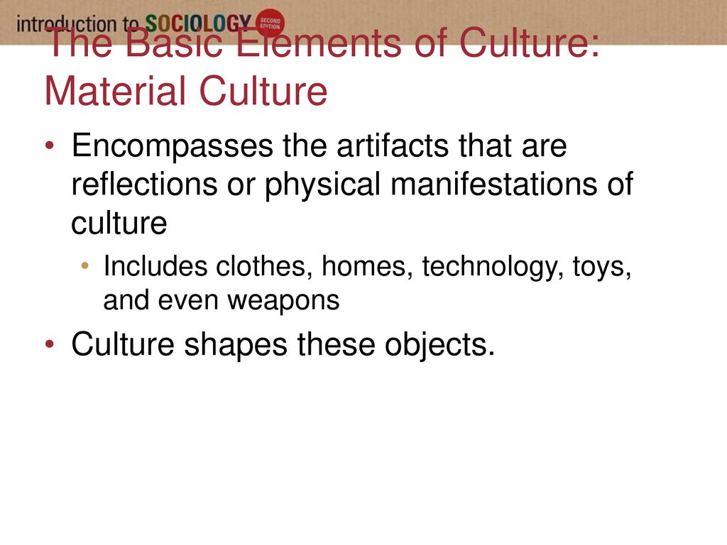 The Basic Elements Of Culture Material Culture