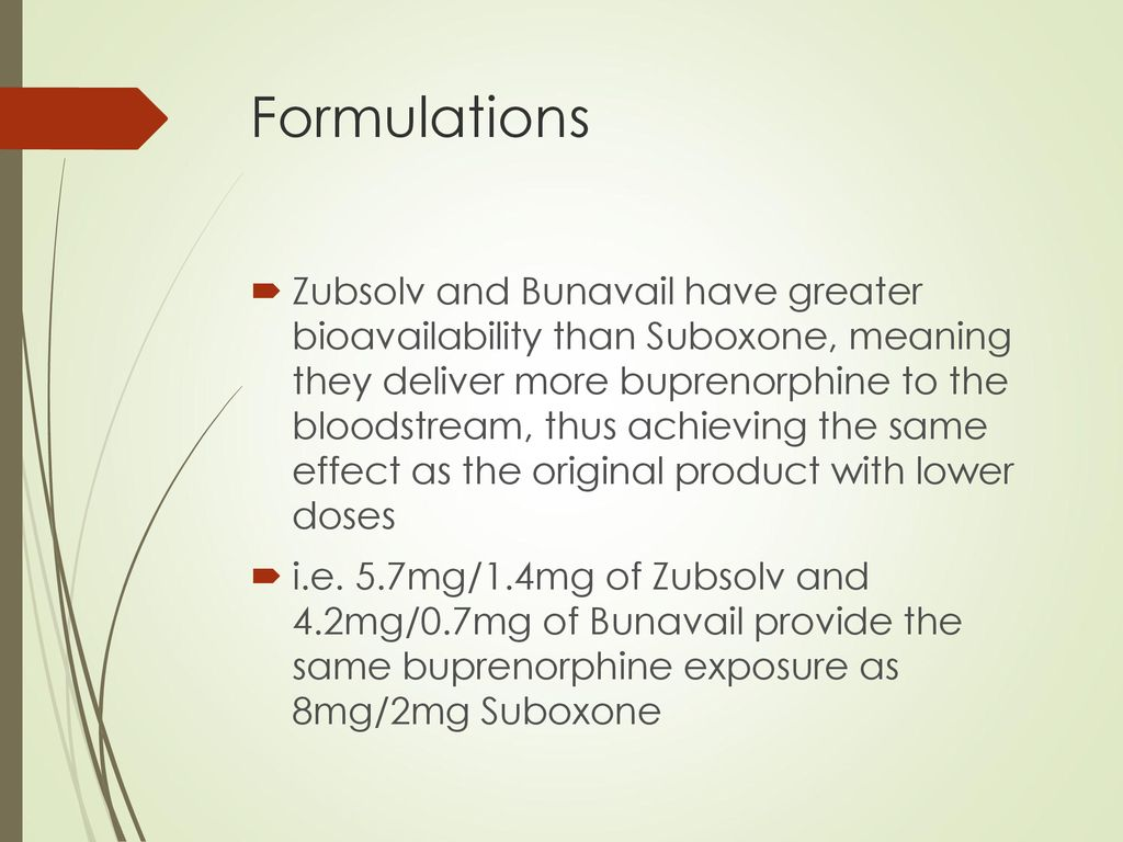 Buprenorphine All You Ever Wanted to Know - ppt download