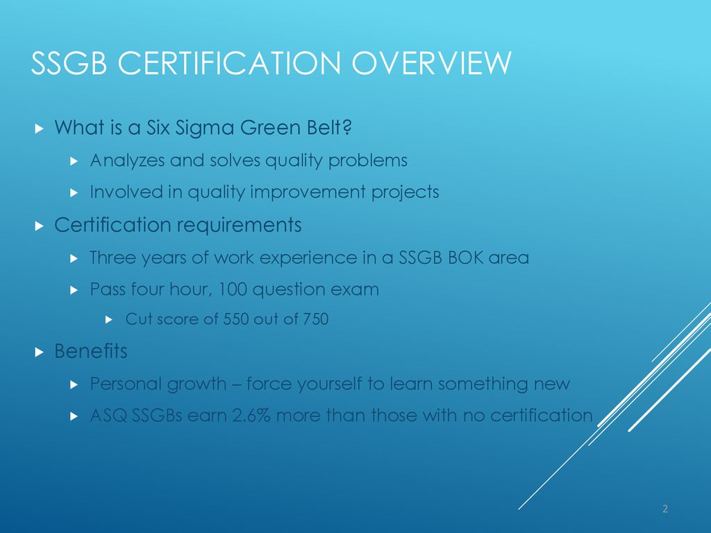 Six Sigma Green Belt Certification Ppt Download