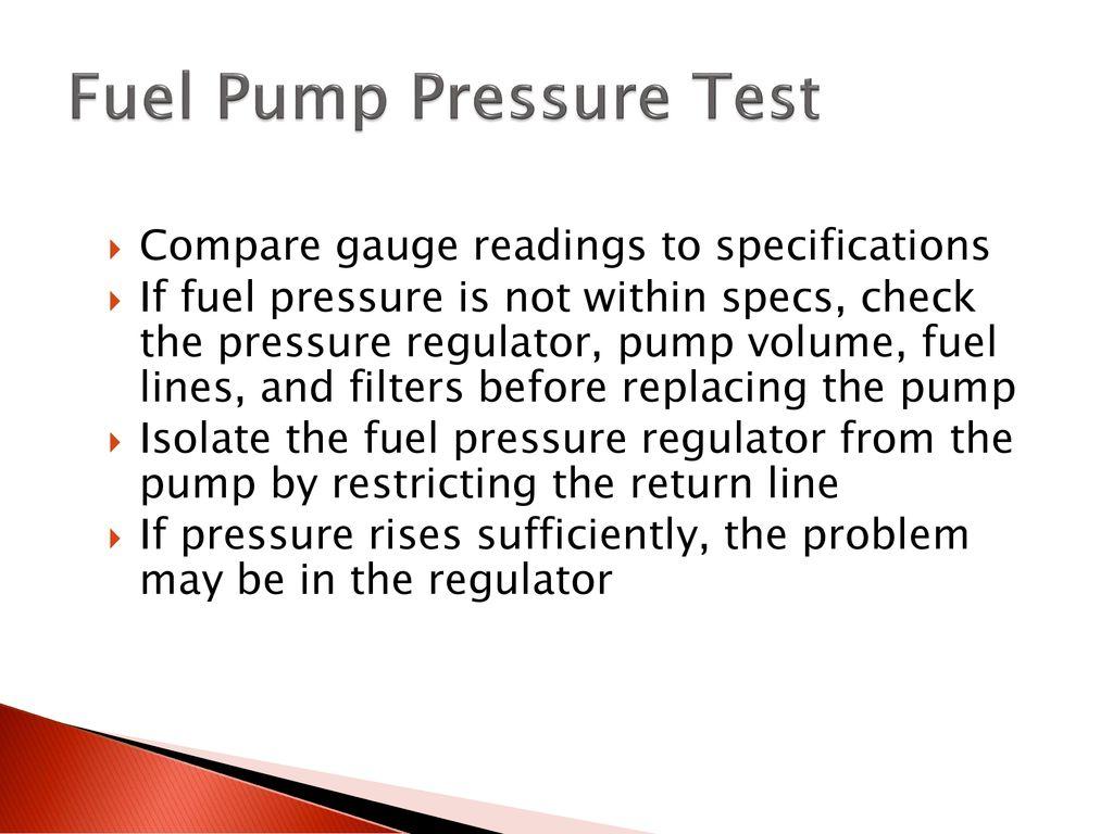 How To Test Fuel Pressure Regulator Without Gauge