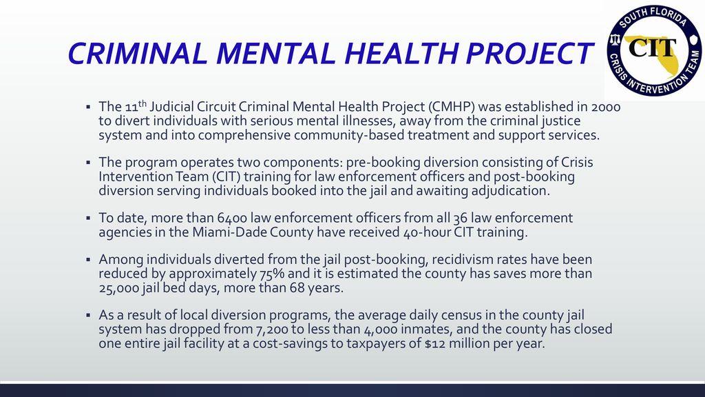 Mental Health Treatment Diversion Reduce