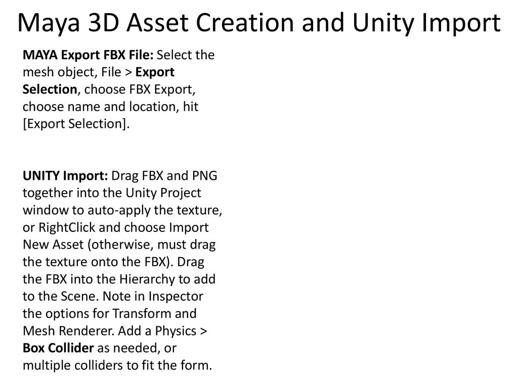 LESSON #5: Workplace Games and Intro to 3D Assets in Maya - ppt download