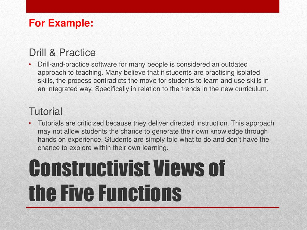 example of views of teaching