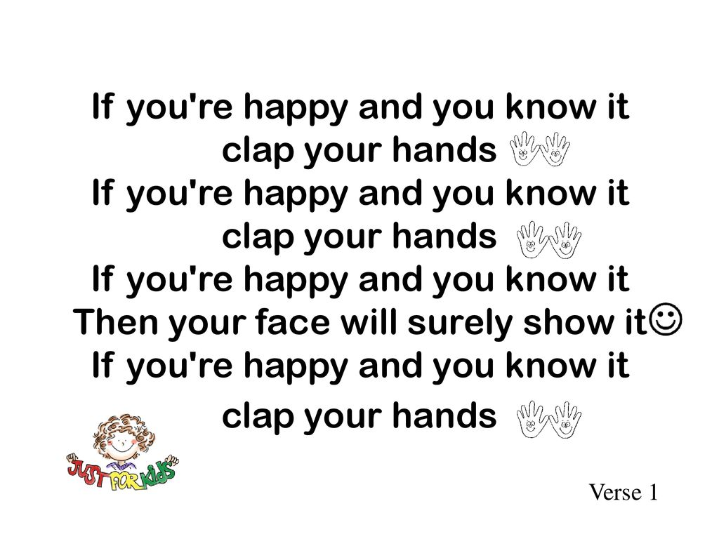 If You Re Happy And You Know It Ppt Download