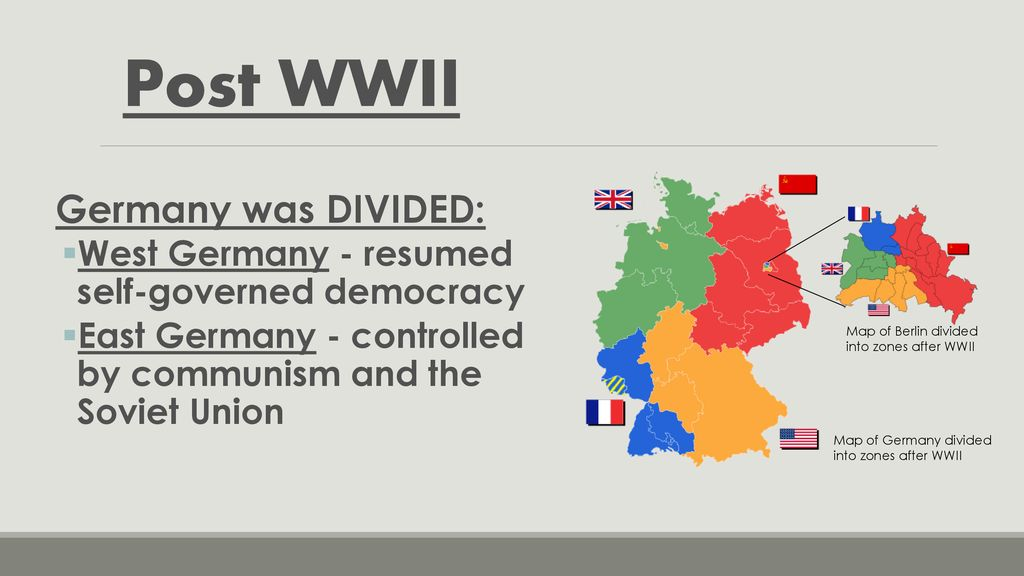 Map Of Germany Divided.Origins Of The Cold War The Cold War Lasted From The End Of World