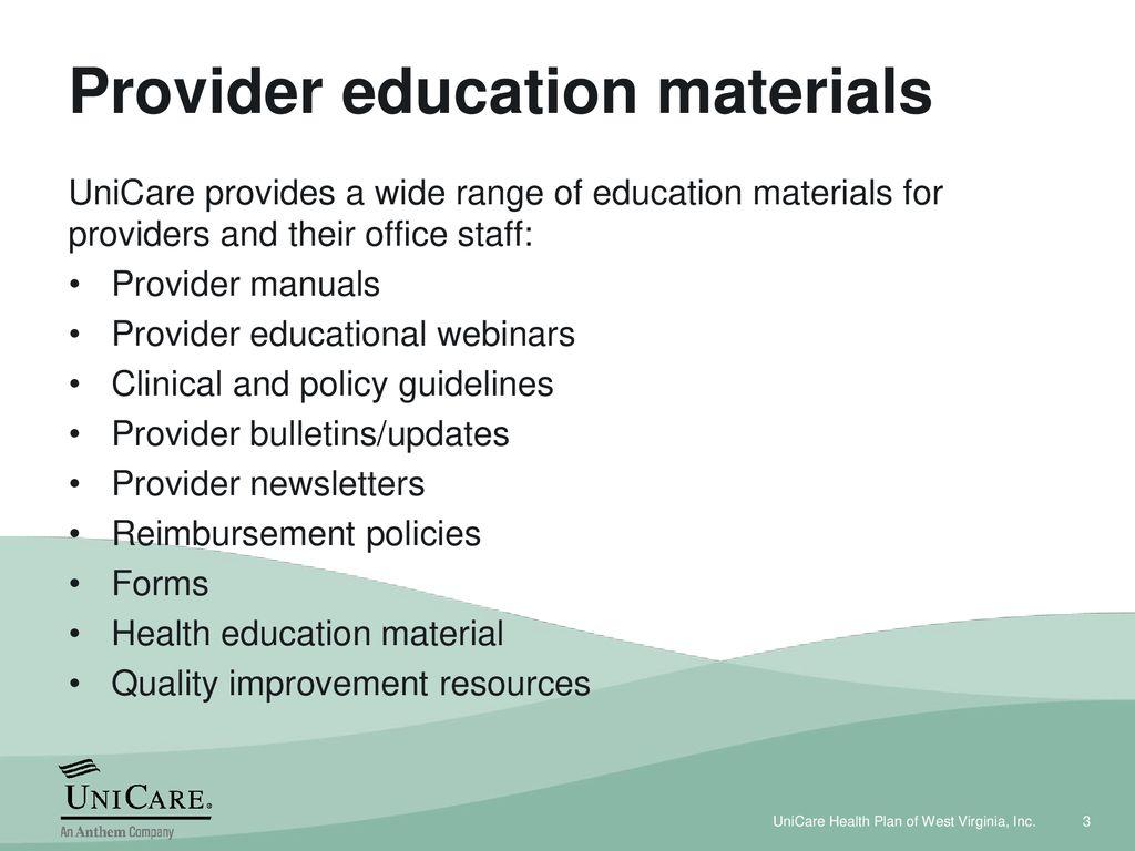 UniCare Health Plan of West Virginia, Inc  (UniCare) - ppt