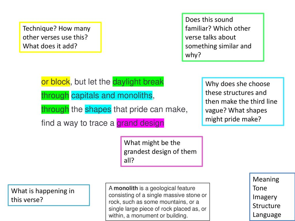 To use MITSL to develop a response to the poem - ppt download