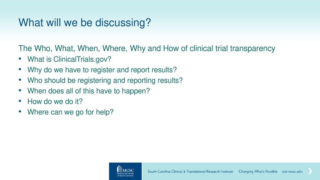 ClinicalTrial gov Registration & Results Requirements - ppt download