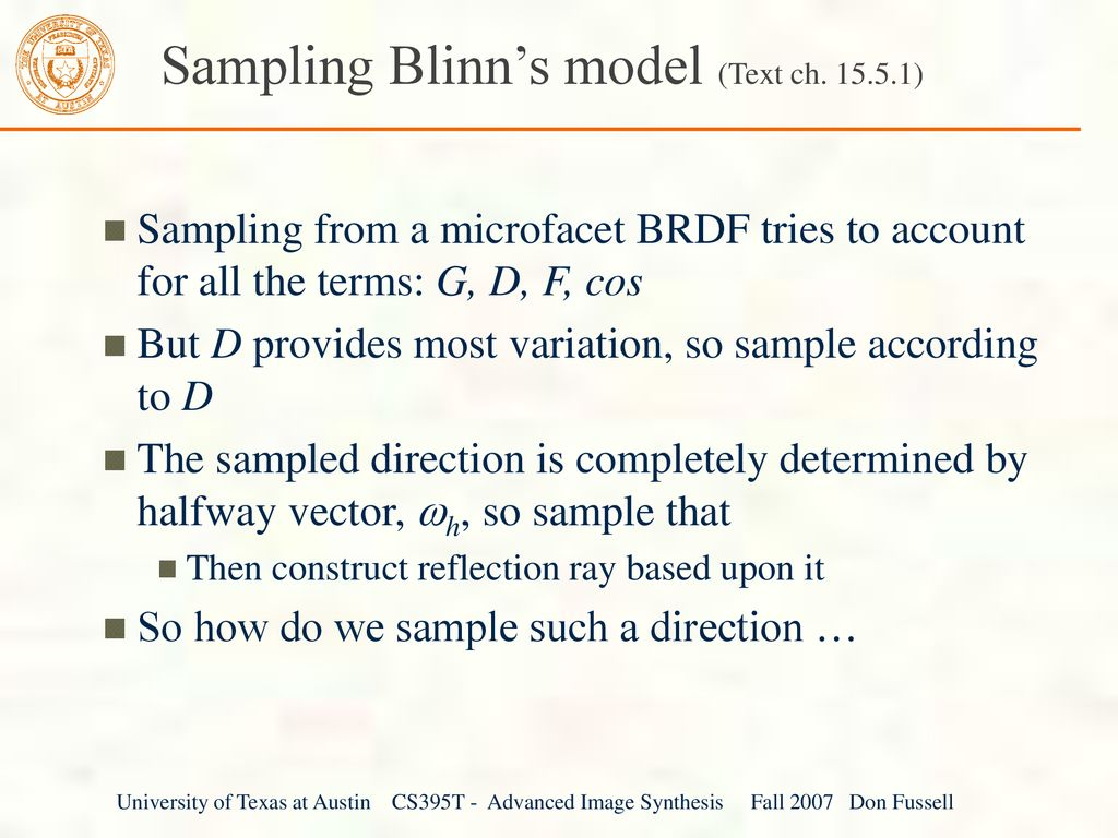 Previous lecture Reflectance I BRDF, BTDF, BSDF Ideal
