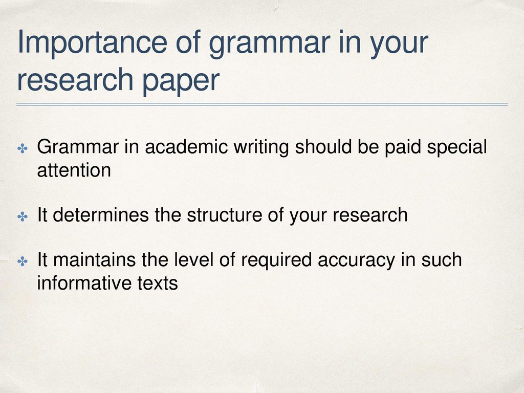 grammar research paper