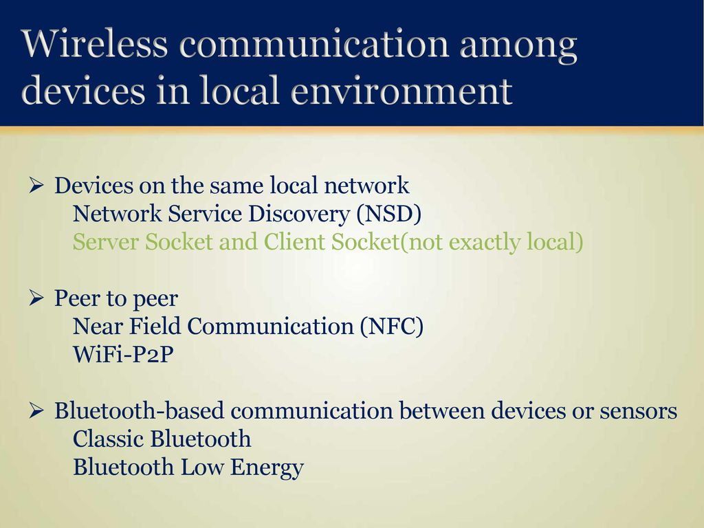 Wireless Communication between Android Application and Sensors - ppt
