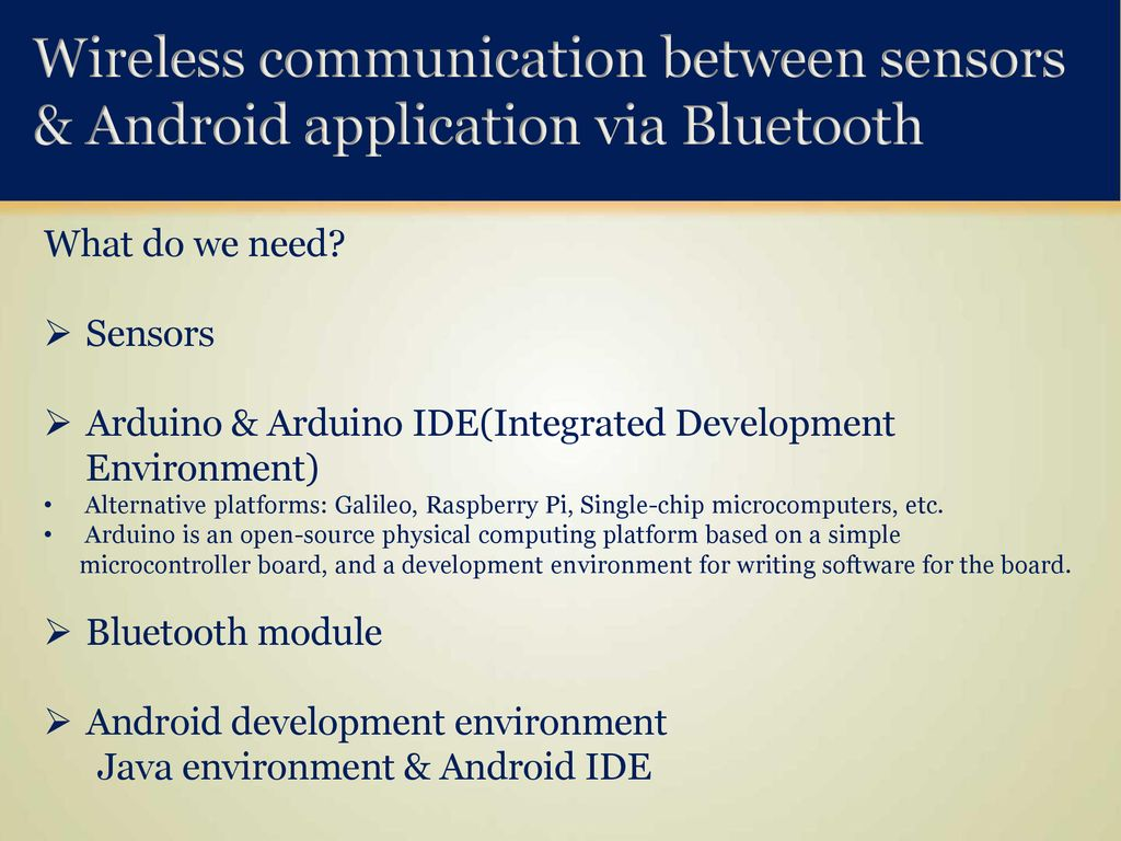 Wireless Communication between Android Application and