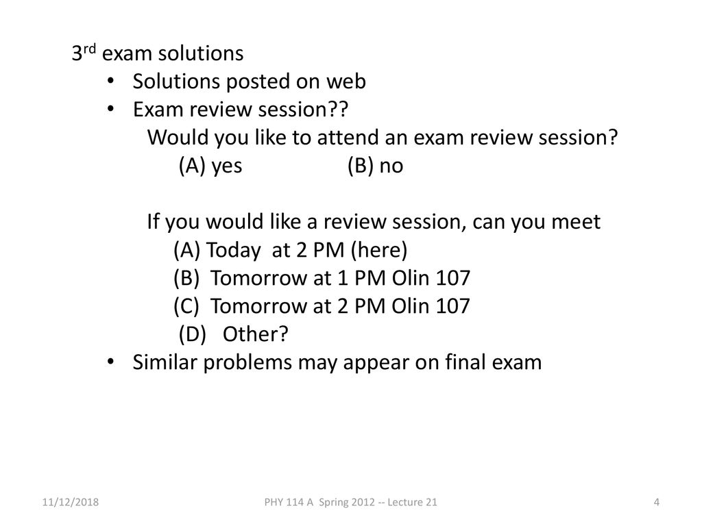 PHY 114 A General Physics II 11 AM-12:15 PM TR Olin ppt download