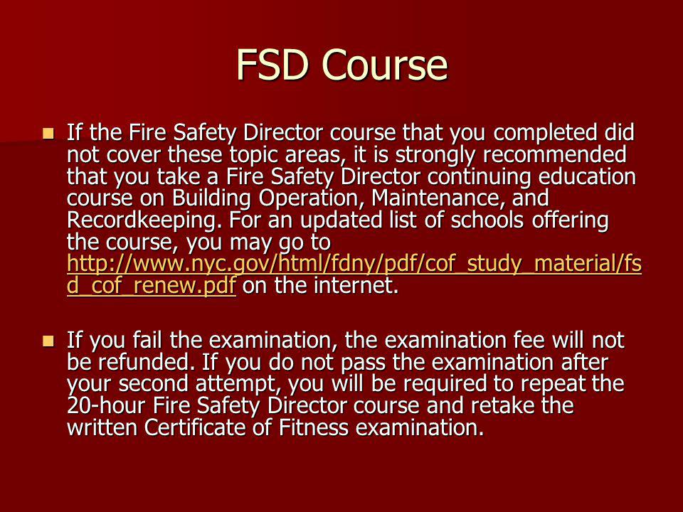 New Fire Safety Director On Site Examination August Ppt Video Online