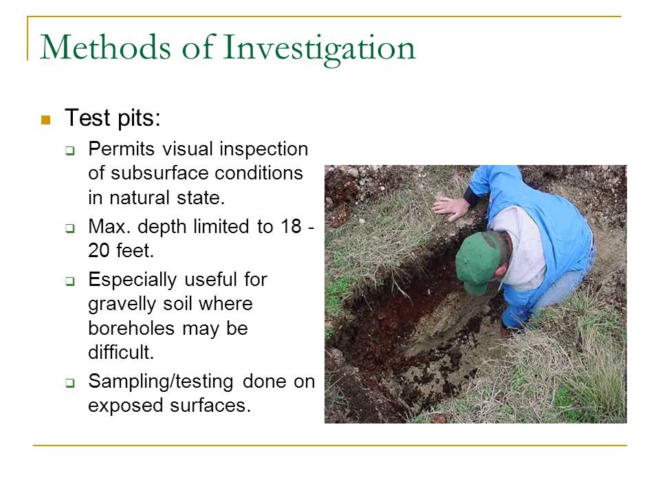 Methods of Investigation