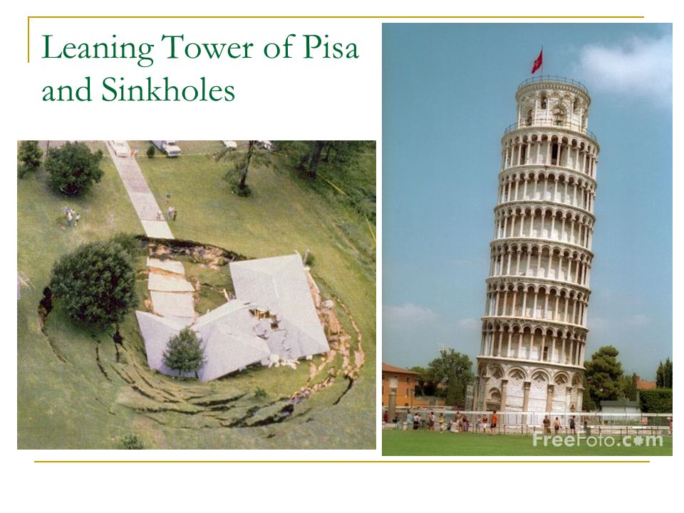 Leaning Tower of Pisa and Sinkholes