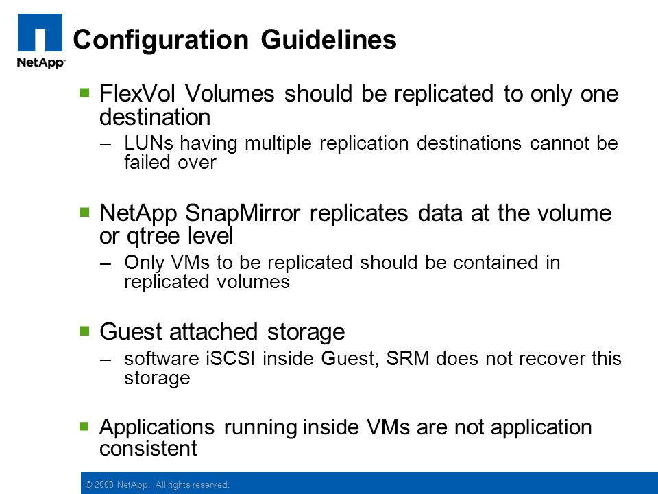 VMware Site Recovery Manager on NetApp Storage - ppt video