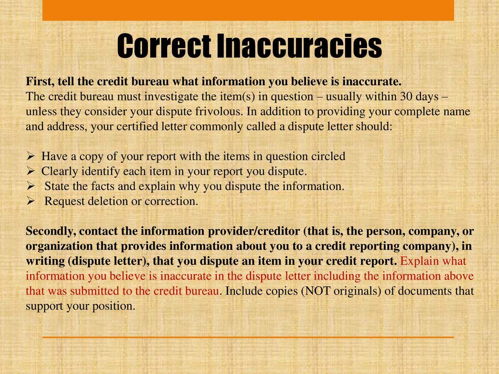 17 correct inaccuracies