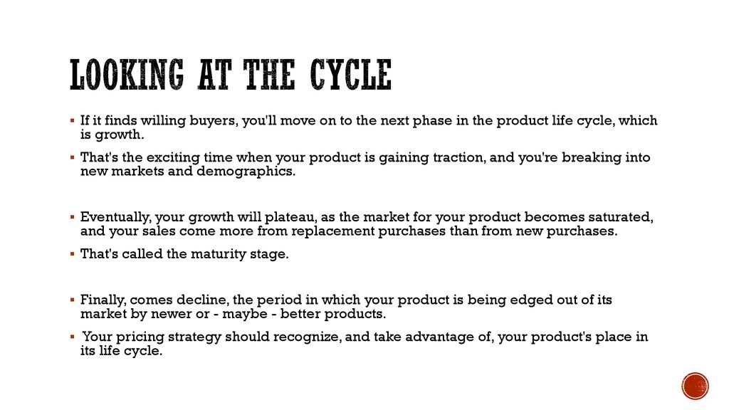 Pricing Strategies At Different Stages Of Product Life Cycle Ppt