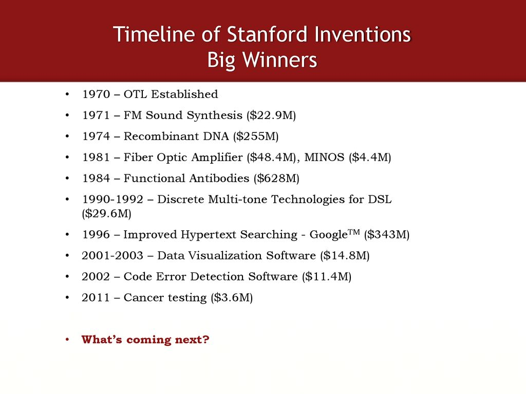 Life of a Stanford Invention - ppt download