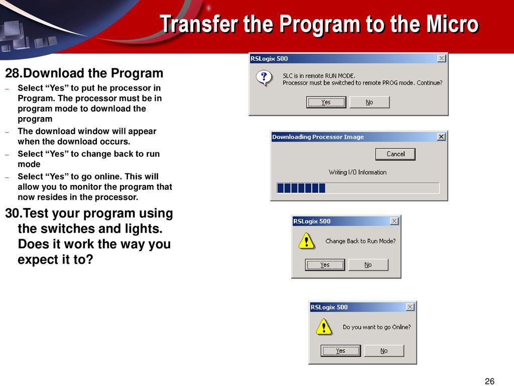 MicroEconomix 1500 RSLogix 500 LAB#2 - ppt download