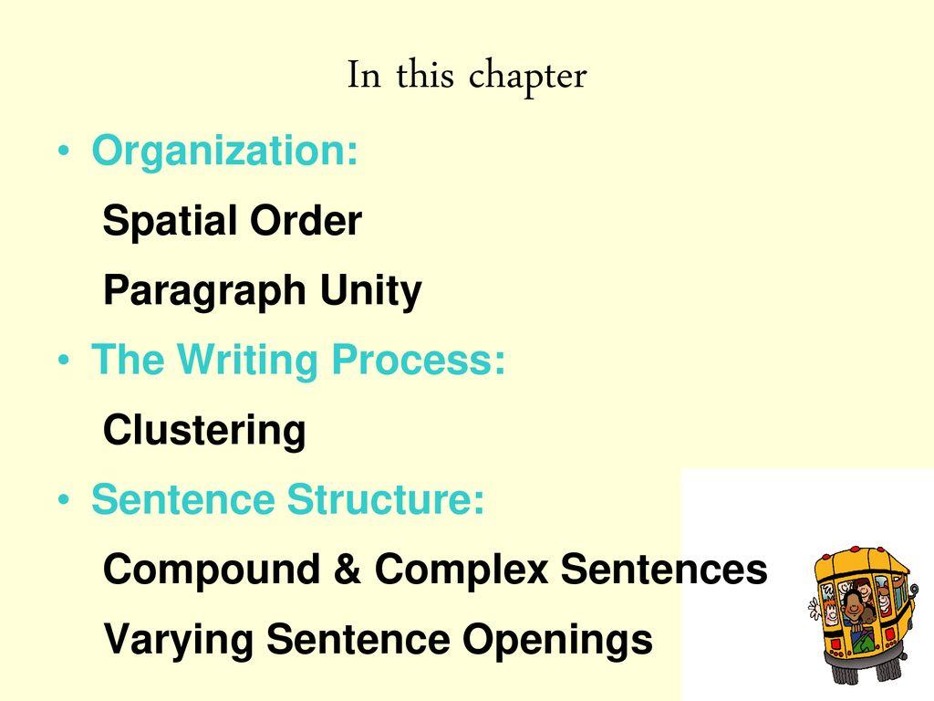 spatial order paragraph