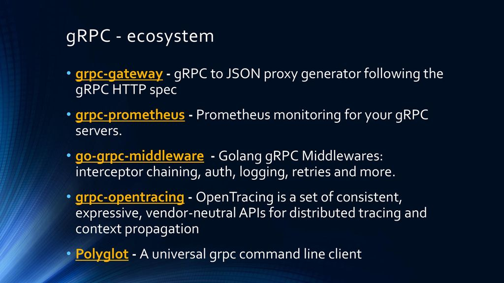 Take your microservices to the next level with gRPC - ppt