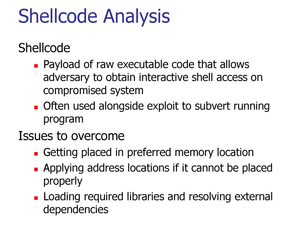Part 6: Special Topics Chapter 19: Shellcode Analysis - ppt