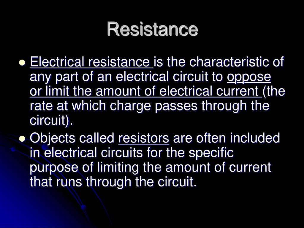 Voltage Current Resistance Ppt Download Electrical And Resistors