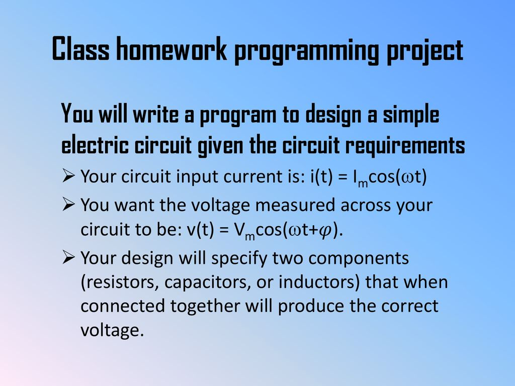 Basic Electric Circuit Components Terminal Relationships Ppt Simple Electronics Projects Class Homework Programming Project