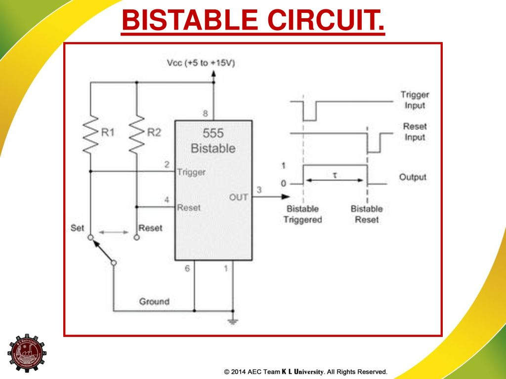 Application Of Special Ics Ppt Download 555 Bistable Schematic 22 Circuit