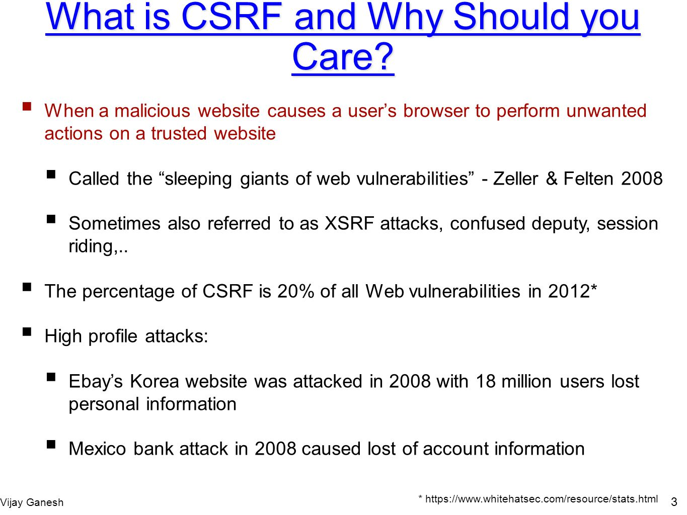 What is CSRF and Why Should you Care
