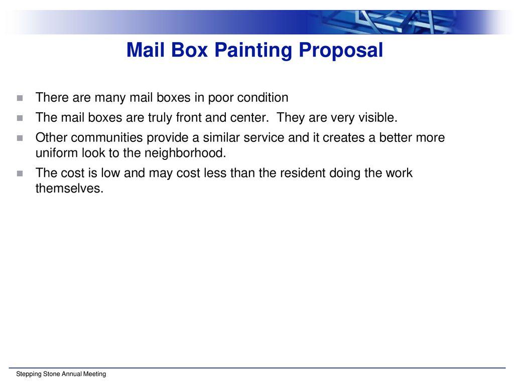 mail box painting proposal