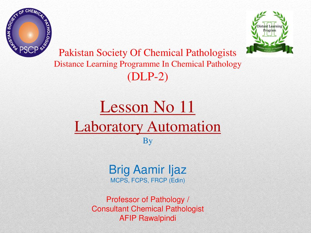 Pakistan Society Of Chemical Pathologists Distance Learning