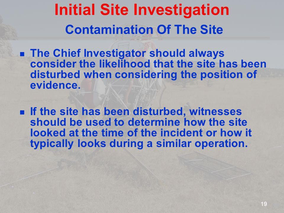 Initial Site Investigation Contamination Of The Site