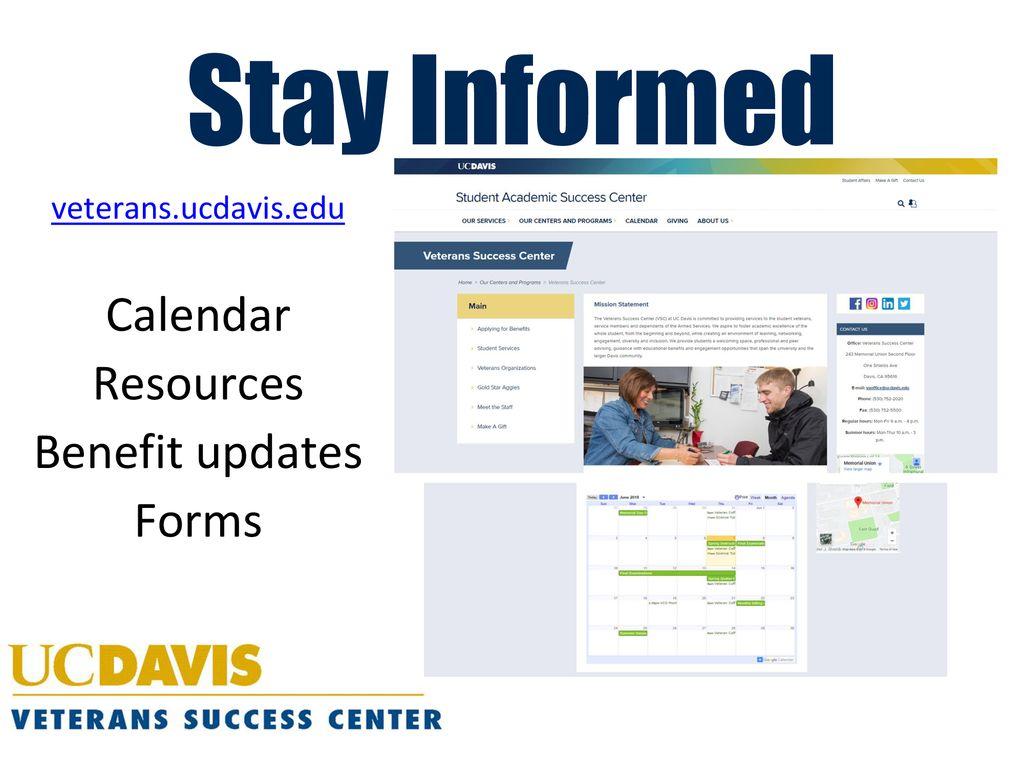 Uc Davis Academic Calendar.Veterans Success Center Orientation Ppt Download