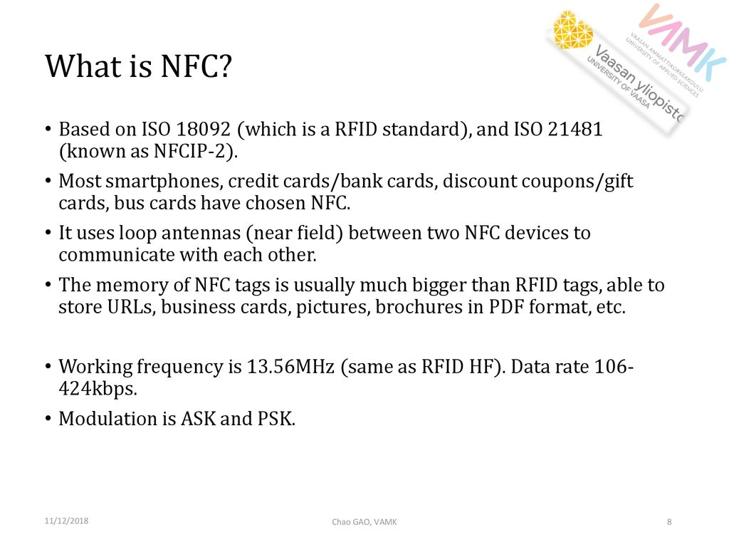 Radio Frequency Identification And Near Field Communication Ppt Passive Rfid Tag Circuit Diagram What Is Nfc Based On Iso Which A Standard