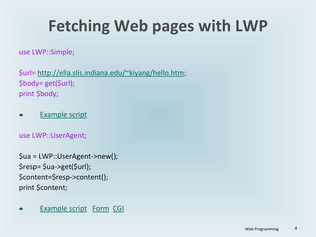 Perl lwp post example.