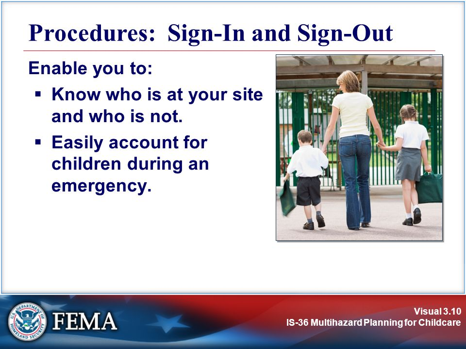 Procedures: Sign-In and Sign-Out