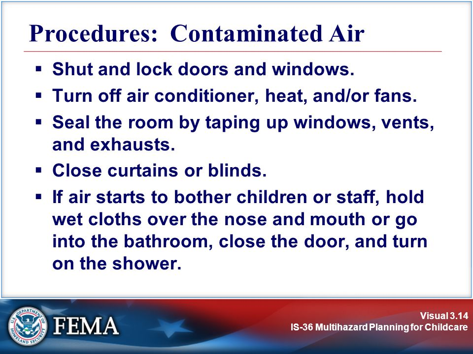 Procedures: Contaminated Air