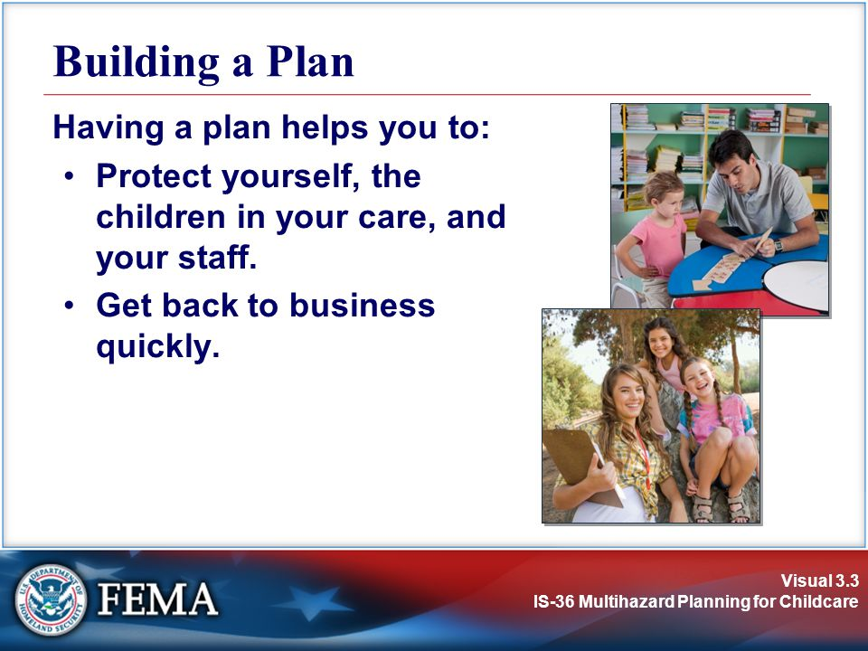 Building a Plan Having a plan helps you to: