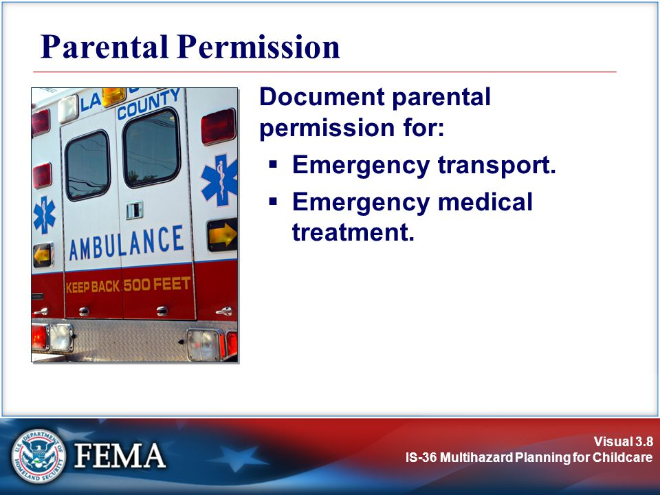 Parental Permission Document parental permission for: