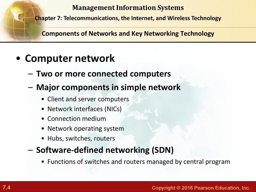 telecommunications, the internet, and wireless technology network interface card basic components of a network