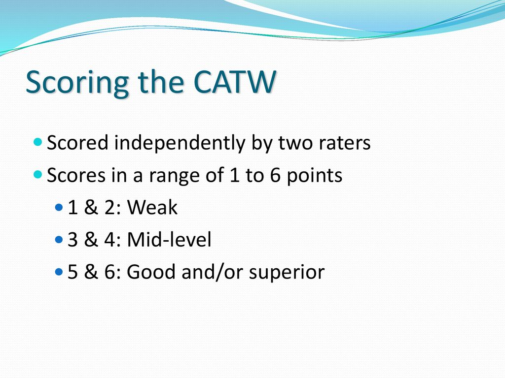 The Cuny Assessment Test In Writing Catw For Esl  Students  Ppt  Scoring The Catw Scored Independently By Two Raters Assignment Writing Service Canada also High School Essay Writing  Non Plagiarized Us Writers