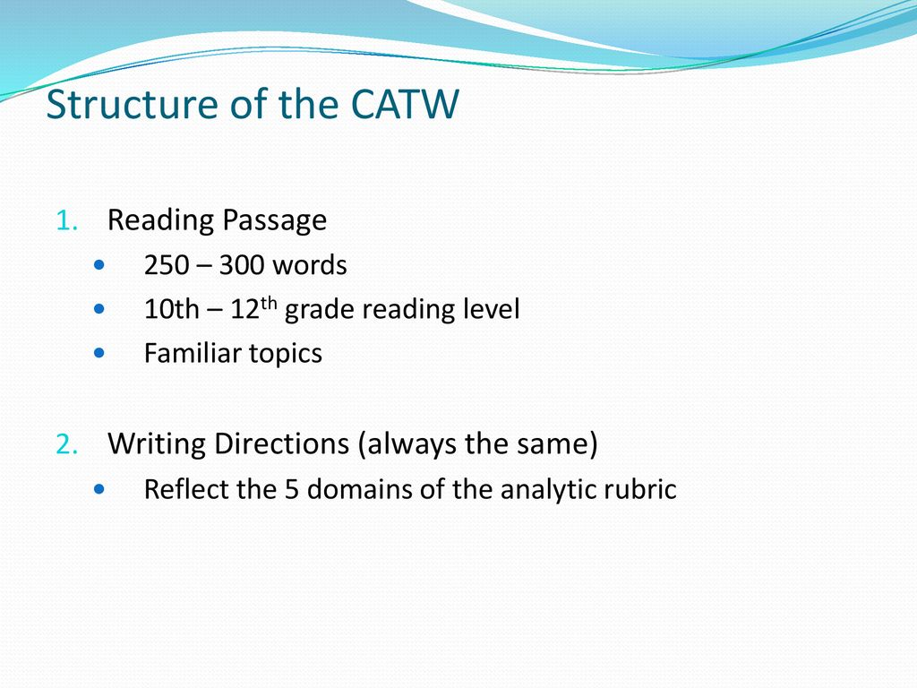 The CUNY Assessment Test in Writing (CATW) for ESL 95